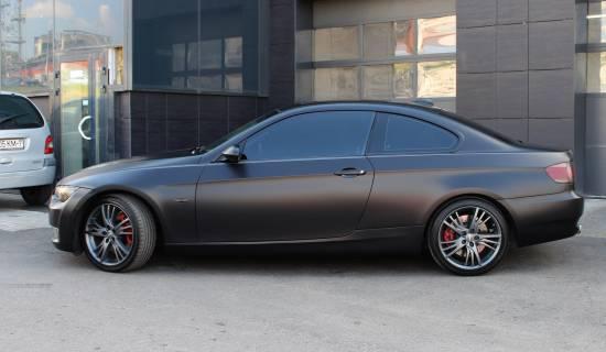 BMW E92 black matte