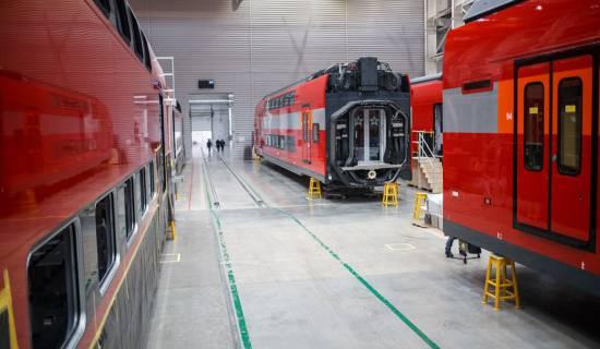 Оклейка поездов STADLER
